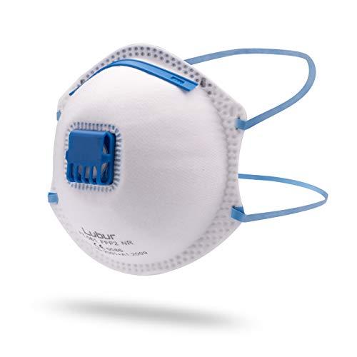 Lubur Atemschutzmaske FFP2 im 10er Set – Hochwertige Atemmaske – Perfekte Passform – Anpassbare Staubmaske in Profi-Qualität - Feinstaubmaske, Staubschutzmaske gegen Staub