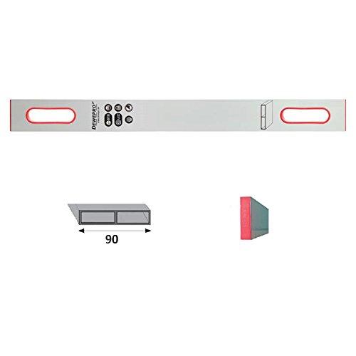 DEWEPRO Alu Richtlatte - Setzlatte - Abziehlatte - Putzlatte mit 2 Handgriffe - Länge: 150cm / 1,5m