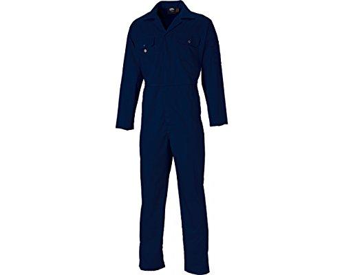 Dickies - Herren Overall Boiler Anzug Verstecker Druckknopf Vorne Zwei Taschen Stifttasche Zwei Brusttaschen Mit Nieten Klappen Elastischen Taillenband Arbeitskleidung WD4819 - Marineblau, XL