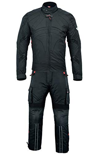 BULLDT 2-teiler Motorradkombi Cordura Textilien Motorradjacke + Motorradhose, Größe:48/S