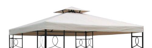 Pavillon Ersatzdach 3x3 Meter - beige - wasserdicht / Kaminabzug - Pavillondach