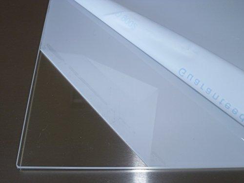 B&T Metall Acrylglas PMMA XT Platte transparent, UV-beständig, beidseitig foliert | 4,0 mm stark | Standardformat Größe 30 x 60 cm (300 x 600 mm)