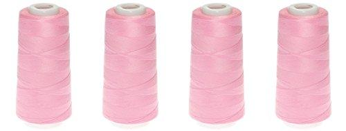 4 x Qualitäts - Overlock - Garn - 3000Yards pro Kone Overlockgarn = 2743 Meter - 40/2 - 32 Farben zur Auswahl (rosa - 2013)