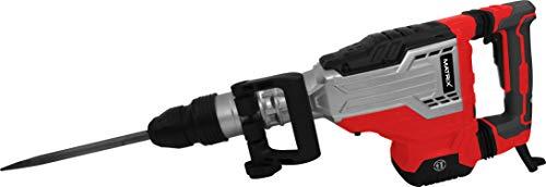 Matrix 120700110 Abbruchhammer SDS MAX, 1700 Watt, 40 Joule, inklusive 2 Meißel und Koffer Rot, Schwarz