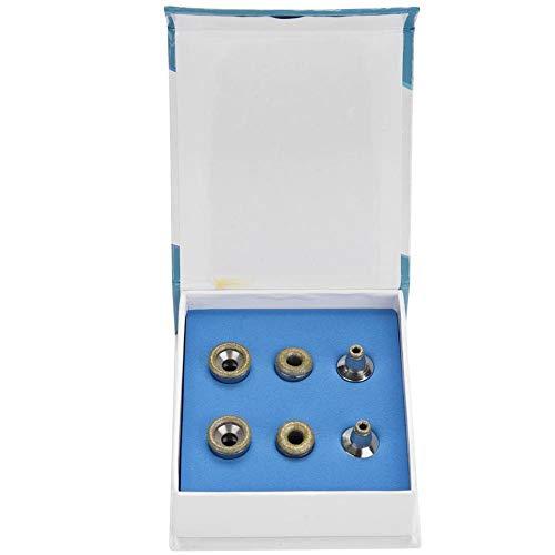 Vobor Diamantspitzen - 6-teiliges Ersatzfilter-Set for Diamant-Mikrodermabrasions-Dermabrasionsspitzen aus Edelstahl