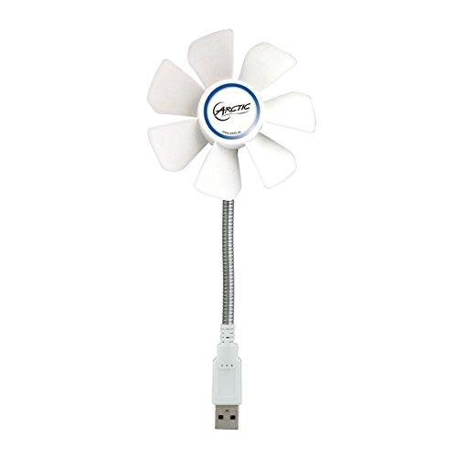 ARCTIC Breeze Mobile - 92 mm USB-Ventilator mit flexiblem Hals I tolle Kühlleistung I Ventilator für das Büro I USB-Gadget I kleiner Ventilator - Weiß