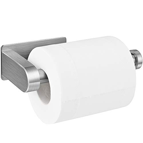 Toilettenpapierhalter Ohne Bohren, Aikzik Selbstklebend Toilettenpapierrollenhalter Edelstahl Klopapierhalter Wc Halter Rollenhalter Klorollenhalter Papierhalter für Küche und Badzimmer