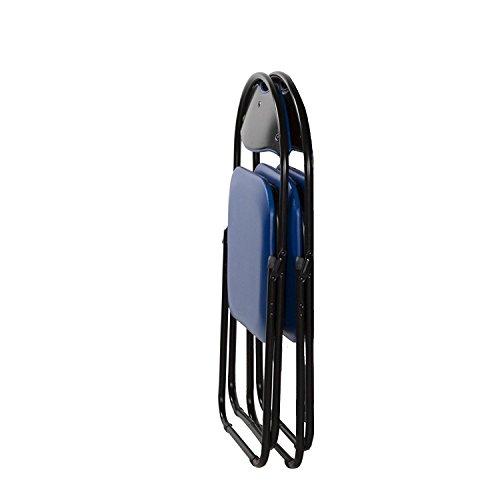 Klappstuhl von MACO - Faltstuhl Gästestuhl Stuhl Metall in schwarz PVC in schwarz 6er Set