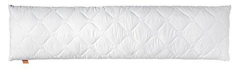 sleepling Medical Seitenschläferkissen Stillkissen aus Softer Mikrofaser 40 x 145 cm, 1.200 Gramm Füllgewicht mit Reißverschluss, Weiß