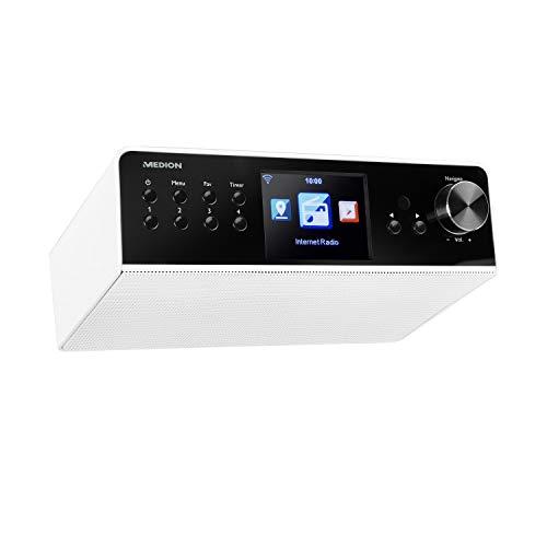 MEDION P85063 Küchenradio (Unterbauradio, WLAN, DAB+, UKW, Spotify Connect, DLNA-/UPnP, Farbdisplay) weiß