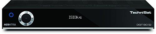 TechniSat DIGIT ISIO S2 / HD Sat-Receiver mit PVR-Aufnahmefunktion via USB oder im Netzwerk, Timeshift, UPnP-Livestreaming, schwarz