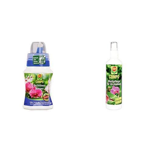 COMPO Orchideendünger für Orchideen in Topf und Beet, Spezial-Flüssigdünger mit Guano und Pflanzenenzymen, 250 ml