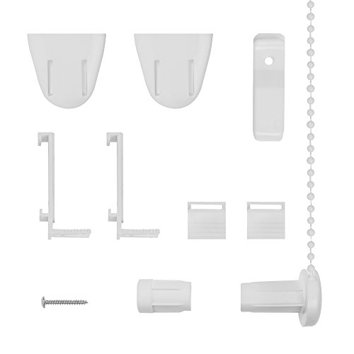 Lichtblick RKV.01.SB Klemmträger und Zubehör Montage-Set für Klemmfix Rollo RKV -