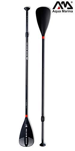 Aqua Marina B0302768 Sports III Adjustable Aluminum iSUP Paddle, Schwarz, 165 – 210 x 2,9 cm