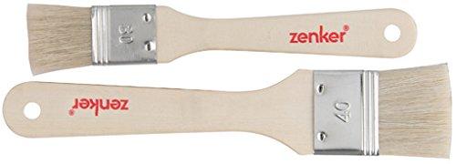 Zenker 42924 Backpinsel, Naturborsten, Braun, 20 x 4 x 0,4 cm, 2 Einheiten