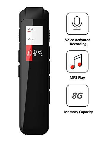 Digitaler Voice Activated Recorder Mini Audio Recorder Voice Recorder für Vorträge und Besprechungen Portable 8GB | MP3