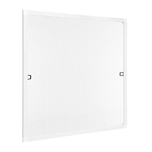 Insektenschutz Fliegengitter Fenster Spannrahmen Weiß 100x130 cm (Breite X Höhe) RAL 9016