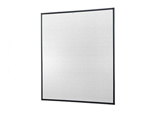 Insektenschutz Fenster Basic 120 x 140 cm mit Alurahmen in Weiß, Braun und Anthrazit, schnelle und problemlose Montage ohne Bohren, Fliegengitter als Bausatz, auf Maß geschnitten oder komplett aufgebaut