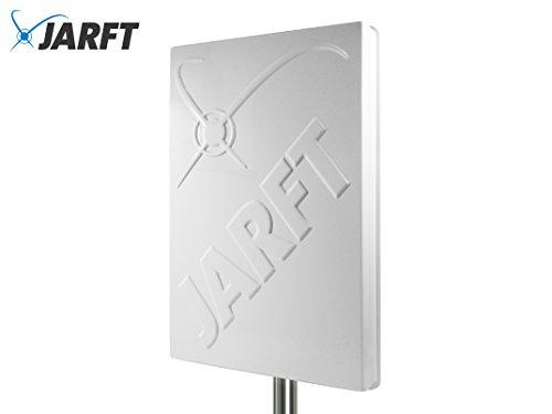 JARFT J4GMB-14-DOMPA | Leistungsstarke Multiband 800/1800/2600 MHz LTE / 4G Antenne, 14dBi Leistungsgewinn, Wetterfest, inklusive 2.5m TWIN-Kabel - Richtantenne passend zu Speedport LTE / LTE II / Hybrid, Speedbox LTE / LTE II / LTE III, Easybox 904 LTE / B1000 / B2000 / B3000 / B4000, O2 LTE Router, FritzBox LTE- Router, Huawei B390 / B593 / B890 / E5186, D-Link DWR-921, Teltonika RUT550 / RUT950 / RUT955