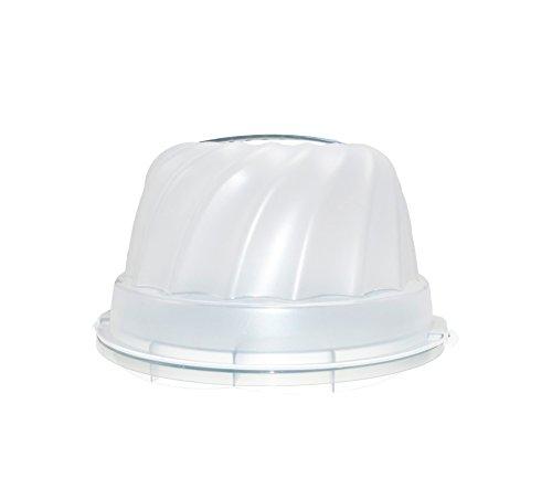 Gugelhupf Weiß Kuchenbehälter Kuchen Transport Behälter Tragegriff 30,5 x 28,5 x 17,5 cm