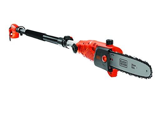 Black+Decker Hochentaster (800W, 25 cm Schwertlänge, 2,7 m Länge, 11 m/s Kettengeschwindigkeit, schwenkbarer Kopf) PS7525