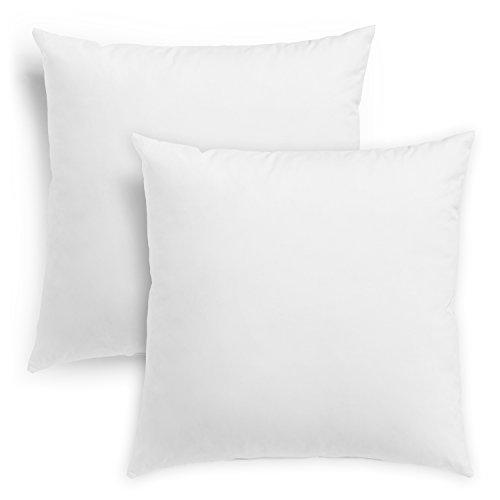 sleepling reines Daunenkissen Kopfkissen aus 100% Daune, Bezug aus 100% Baumwolle, 80 x 80 cm, weiß