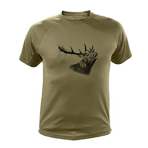Jagd T Shirt, Hirsch (303, Grun, M)