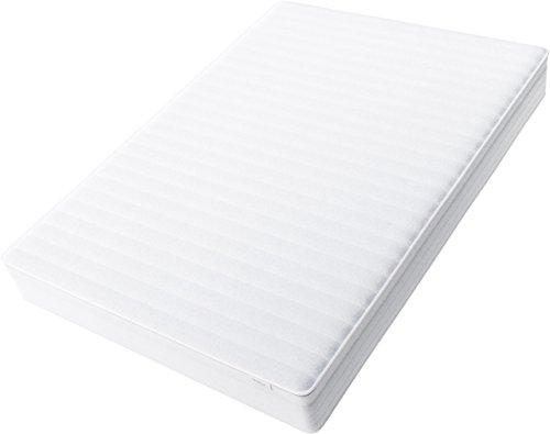 Hilding Sweden Essentials Federkernmatratze in Weiß / Mittelfeste Matratze mit orthopädischem 7-Zonen-Schnitt für alle Schlaftypen (H2-H3) / 200 x 90 cm