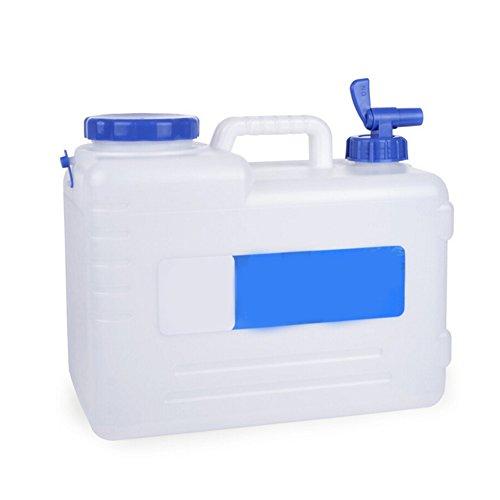 Wasserkanister mit festmontiertem Ablasshahn/Wasserauslauf,Auto zubehör,Wassertank Camping Outdoor BBQ und Lange Reise etc,15 Liter