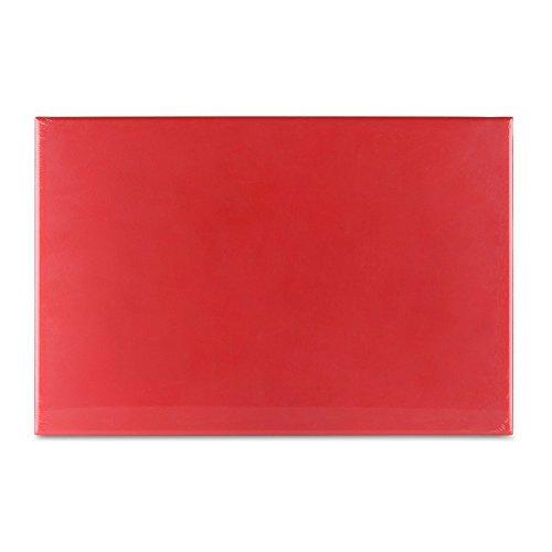 Grunwerg Schneidebrett aus Kunststoff mit hoher Dichte, Plastik, rot, 45 x 30 x 1 cm