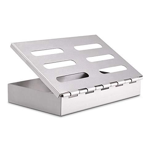 Räucherphorie Räucherbox - Edelstahl Smokerbox für das besondere BBQ-Aroma - Geeignet für Gas-, Elektro und Kohlegrill - Premium Grillzubehör
