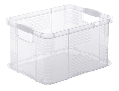 Rotho 7931096000 Aufbewahrungsbox Systembox 'Agilo' aus Kunststoff, Format A4, Inhalt 17.5 l, ca. 39x29x21.5 cm (LxBxH), transparent