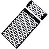 HemingWeigh Complete Acupressure Mat and Pillow Set with Bonus Carry Bag (Black) by HemingWeigh