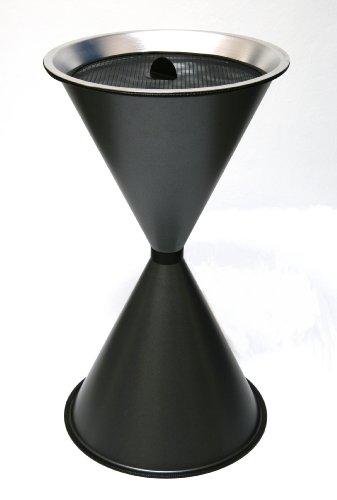 Standaschenbecher Diabola 71x40 cm, graphit, Marke: Szagato, Made in Germany (Ascher, Standascher, Aschenbecher)