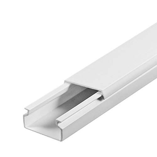 SCOS Smartcosat 10 m Kabelkanal (12 x 12 mm H x B 10 m) Selbstklebend PVC Kunststoff, Aufputz für Wand Montage allzweck Kabelleiste, Kabelschacht