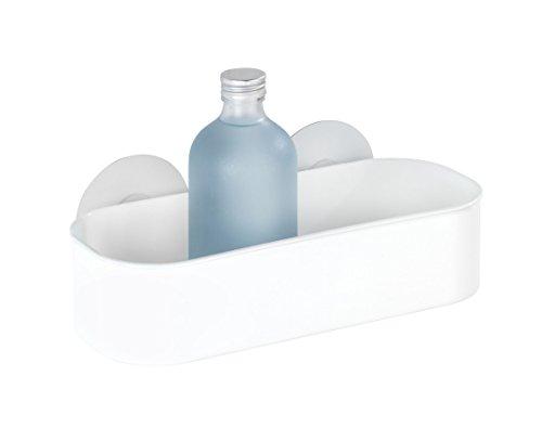 Wenko 21824100 Static-Loc Wandablage Osimo - Befestigen ohne Bohren, Kunststoff - Polypropylen, 27 x 9,5 x 12 cm, weiß