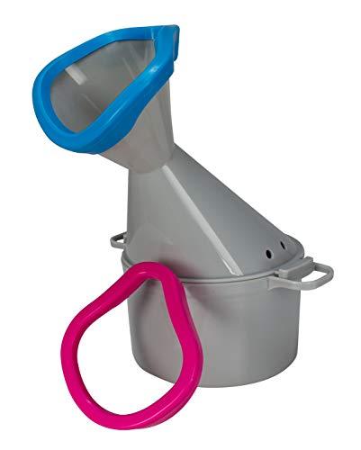 Hydas 3003.1.00 Inhalator Premium mit Soft-Aufsätzen für Mund und Nase grau