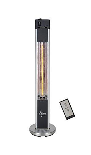 SUNTEC Terrassenheizstrahler Heat Patio 2000 Carbon [Für Räume bis 48 m³ (~20 m²), Indoor & Outdoor Nutzung, 3 Heizstufen, Fernbedienung, max. 2000 Watt]