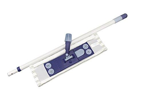 Limpando 3er Wischer Set für Bodenreinigung   mit stabilem Magnet-Klapphalter, Wischbezug und Praktischem Teleskopstiel   Mopp-Klapphalter Auch für Einfaches Bodentuch