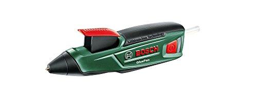 Bosch Akku Heißklebepistole GluePen (Micro USB Ladgerät, 4x Kleber Ultrapower, Karton, 3,6 Volt)