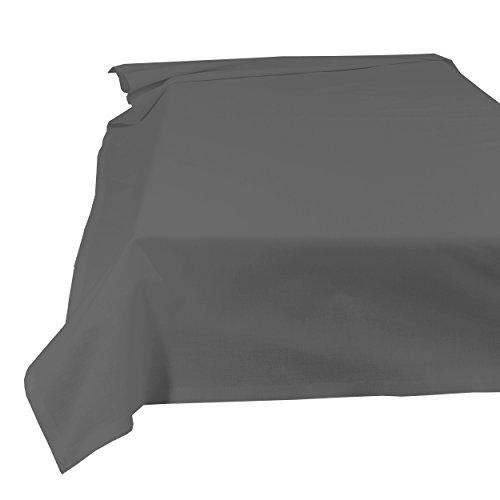 SHC Textilien Betttuch Bettlaken Haustuch Tischdecke 100% Baumwolle 200 x 250 cm anthrazit/grau / dunkelgrau
