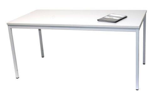 Schreibtisch (Stahl) LxB: 160x80 cm, lichtgrau, Marke: Szagato (Arbeitstisch, Computertisch, Bürotisch, Druckertisch)