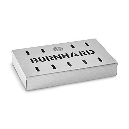 Räucherbox Edelstahl Grillzubehör für Gasgrill, Kohlegrill und Kugelgrill Aromabox Premium Smokerbox Maße (21 x 13 x 3,5 cm), Ideal für Gas-Grills, Smoker, BBQ | Barbecue