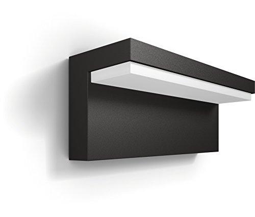 Philips myGarden LED Wandaussenleuchte Bustan, Anthrazit, Gartenleuchte