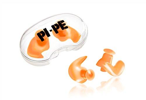 PI-PE Kinder Ohrstöpsel zum schwimmen - verhindert Wasser im Ohr - leicht einsetzbar - kein drücken - wasserdicht aus Silikon - 2 Stück mit Aufbewahrungsbox