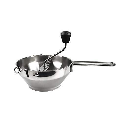 gaeruite Edelstahl Passiermühle mit 3 Mahlscheiben, manuelle Mühle zur Herstellung von Püree oder Suppen von Gemüse, Tomaten, Apfelmus