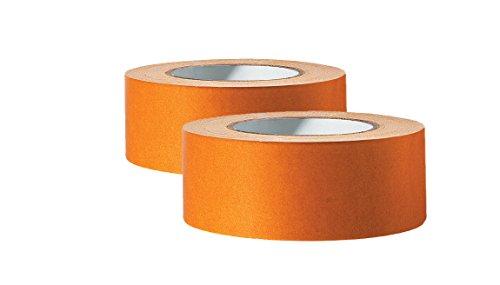 2 x Profi Doppelseitiges Klebeband | Teppichklebeband doppelseitig 50 mm x 25 m | Teppich-Verlegeband Doppelklebeband | Hohe Klebekraft, stark klebend | Für glatte Untergründe
