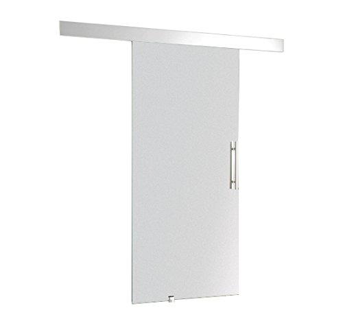 Homcom Glasschiebetür Schiebetür 2050 x 900 x 8 mm Tür Glastür Zimmertür mit Griffstange, 1 Stück, E7-0001