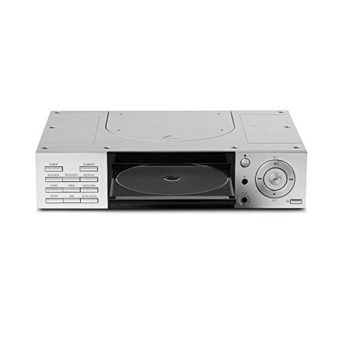 MEDION E66265 Stereo CD Unterbauradio, zur Montage, 2X 20 Watt RMS, PLL UKW/UKW-Stereo Radio, 20 Senderspeicher, Radio Data System, AUX Eingang, Silber