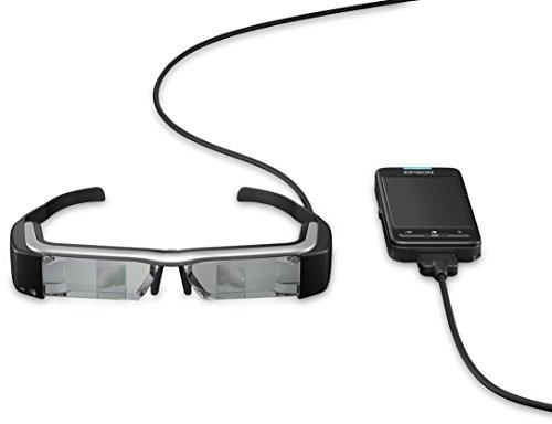 Epson Moverio BT-200 intelligente Multimedia-Brille mit Polysilizium-TFT-Aktivmatrix (VGA-Sensor Kamera, 1,1 cm (0,4 Zoll) LCD-Display, v3.0 Bluetooth, WLAN, USB 2.0)